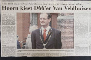 Hoorn kiest Onno van Veldhuizen