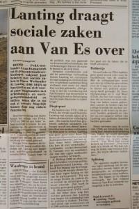 Soza over naar Van Es