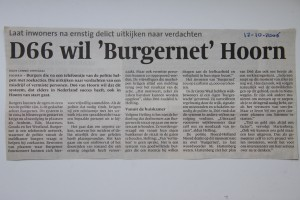 Krantenartikel NHD 12102006 Burgernet