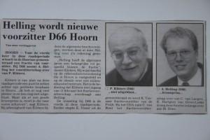 Krantenartikel NHD Overdracht fractievoorzitterschap 1996