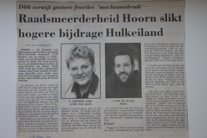 Krantenartikel NHD SOW Hulk 13 februari 1991