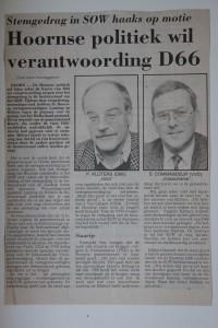 Krantenartikel NHD SOW Hulk 1991